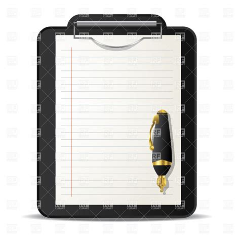 clipboard and pen clipart clipboard and ink pen royalty free vector clip