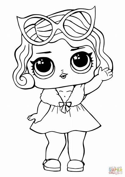 Lol Coloring Doll Leading Pages Printable Colouring
