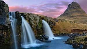 kirkjufell, mountain, waterfalls, iceland, wallpapers