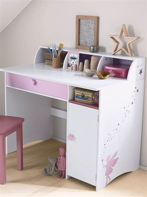 bureau pin blanc bureau junior fée blanc violet bureaus desks and storage