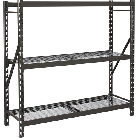 industrial storage racks edsal industrial storage rack 72in w x 24in d x 72in h