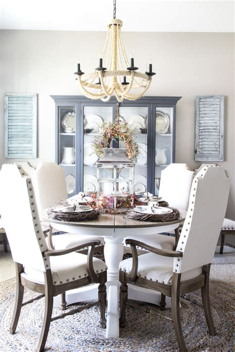 fall dining room  tablescape ideas