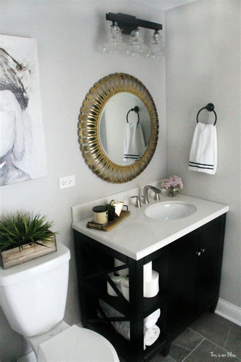 create  neutral glam basement bathroom