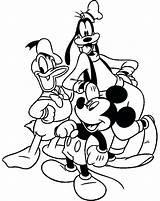 Coloring Goofy Pages Trombone Mickey Mouse Friends Disney Halloween Clubhouse Printable Adult Christmas Getdrawings Activities Donald Mewarnai Disimpan Dari sketch template