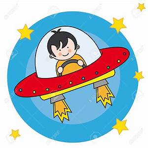 Red space craft clipart