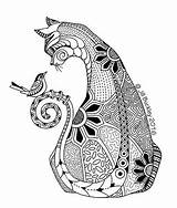 Thequiltrat Cat sketch template