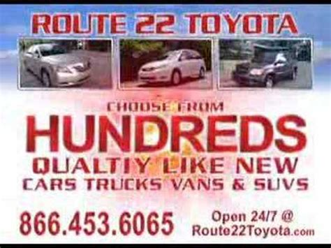 Toyota Route 22 by Route 22 Toyota Cars 0 Used Car Tv Commercial