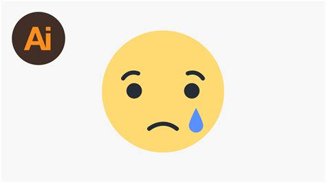 Learn How To Draw The Facebook Sad Emoji In Adobe