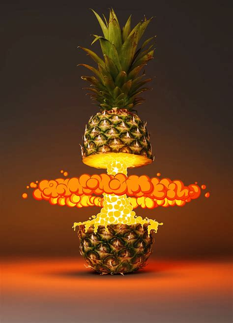 creative pineapple flame poster background originality