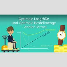Optimale Losgröße Und Optimale Bestellmenge  Andler Formel