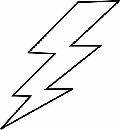 Lightning Bolt Lightening Clip Flash Template Stencil