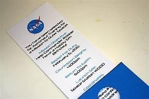 NASA theme birthday invitation | Space VBS Ideas ...