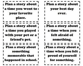 writers workshop  small moment writing prompts tpt