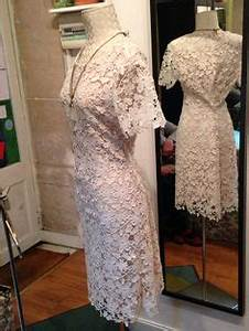 modele robe droite col rond manche courte en dentelle With robe blanche droite