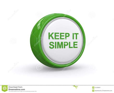Hw Button Simple keep it simple stock illustration image 51230907