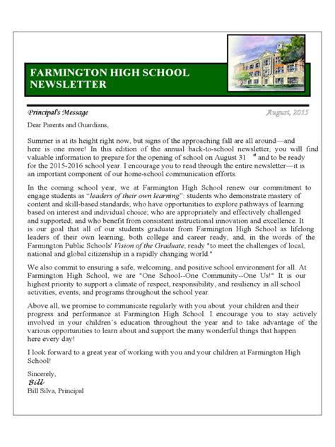 school newsletter template   templates   word