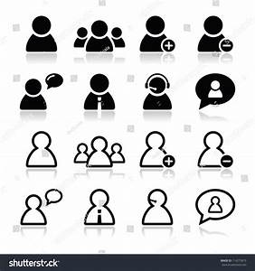 User Black Icons Set Businessman Customer Stock Vector ...