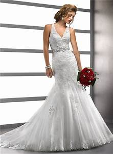 fashion sexy mermaid v neck tulle lace wedding dress with With mermaid wedding dress with straps