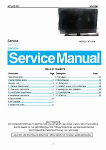 Vizio Vt470m Lcd Tv Service Manual Download  Schematics