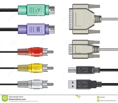 Computer Cables Diagram Vector Illustration