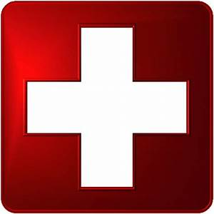 Red cross symbol in red outline clipart image - ipharmd.net