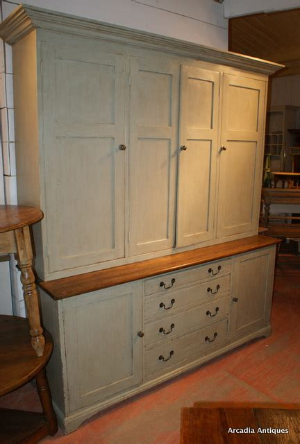 Painted Cupboard by Large Painted House Keepers Cupboard Antique Cupboards