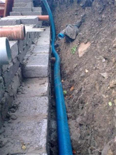retaining wall drainage pipe bratton builders pipework gallery