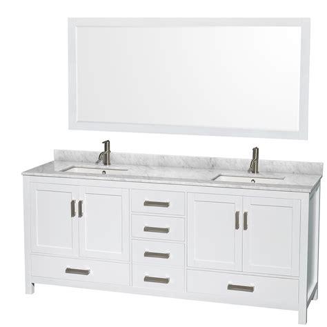 80 inch double sink bathroom vanity sheffield 80 inch double sink bathroom vanity white finish