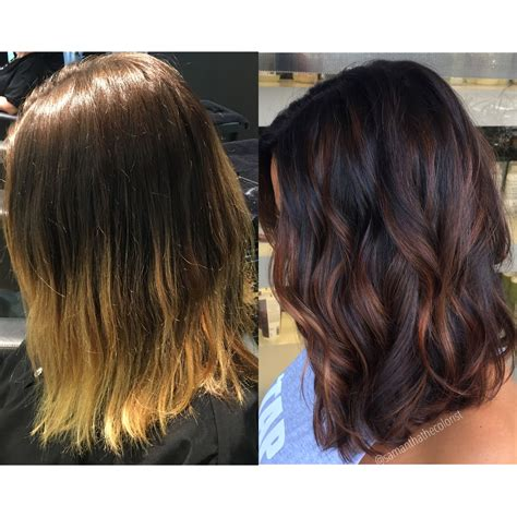 balayage  light winterizing hair color