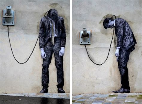 street artist   day levalet paris art sheep