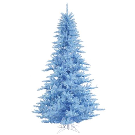 sky blue fir tree blue pre lit lights vck4198