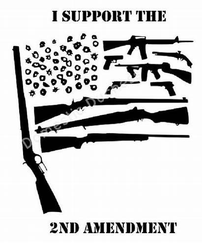 Flag Svg Gun American Amendment Second Guns