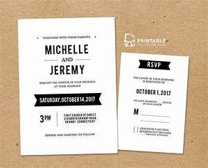 clean fonts printable wedding invitation template and With wedding invitation rsvp on website