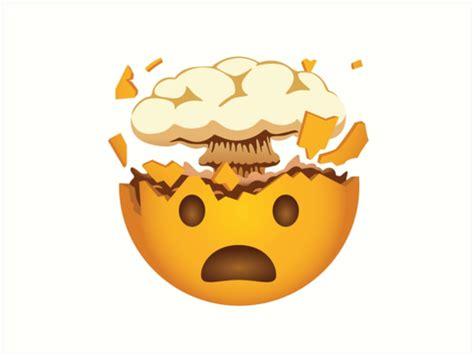 quot mind blown emoji funny new emoji quot art prints by grafik traffik redbubble