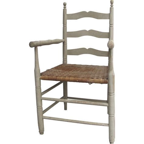 vintage chalk paint ladder back arm chair ch 953 from blacktulip on ruby