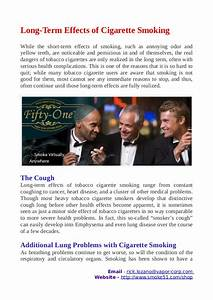 Long Term Effects Of Cigarette Smoking