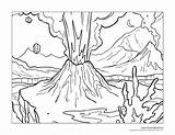 Volcano Coloring Erupting Zoomed Close Crop Previous sketch template
