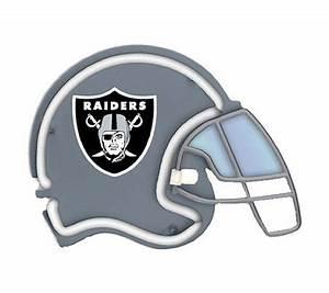 NFL Oakland Raiders Neon Football Helmet — QVC