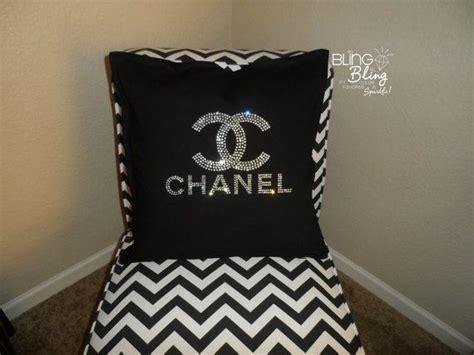 bling rhinestone chanel pillow black pillows