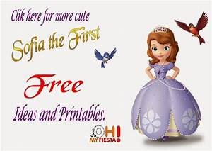 Sofia the first free printable invitations or photo frames for Sofia the first free invitation templates