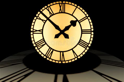 large illuminated clock dial  ten    top