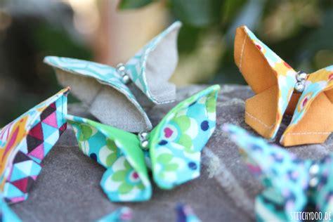 Stitchydoo Diy  Viele Bunte Origamischmetterlinge Aus Stoff