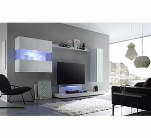 Meuble Tele Moderne : meuble tv moderne laqu blanc new box 6485 ~ Teatrodelosmanantiales.com Idées de Décoration