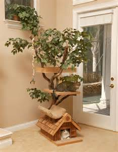 decorative cat trees unique cat tree houses with real trees from pet tree house