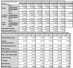 Zinsen Berechnen Excel Vorlage : kalkulatorische kosten ~ Themetempest.com Abrechnung