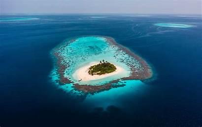 Island Ocean Aerial Beach Water Deserted 4k