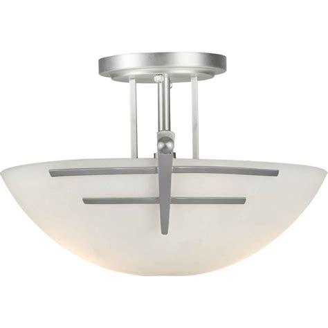 nickel semi flush ceiling lights talista burton 2 light brushed nickel incandescent ceiling