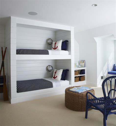 nautical themed nurseries nautical built in bunk beds cottage boy 39 s room