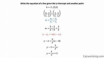 Slope Point Form Example Examples Rules Equation