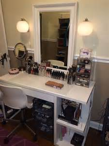 Makeup Desk Ikea Alex by Makeup Vanity For The Home Pinterest